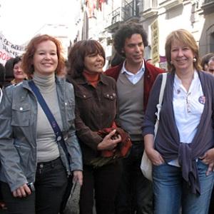 Leire Pajín, Bernarda Jiménez, Pedro Zerolo y Maru Menéndez